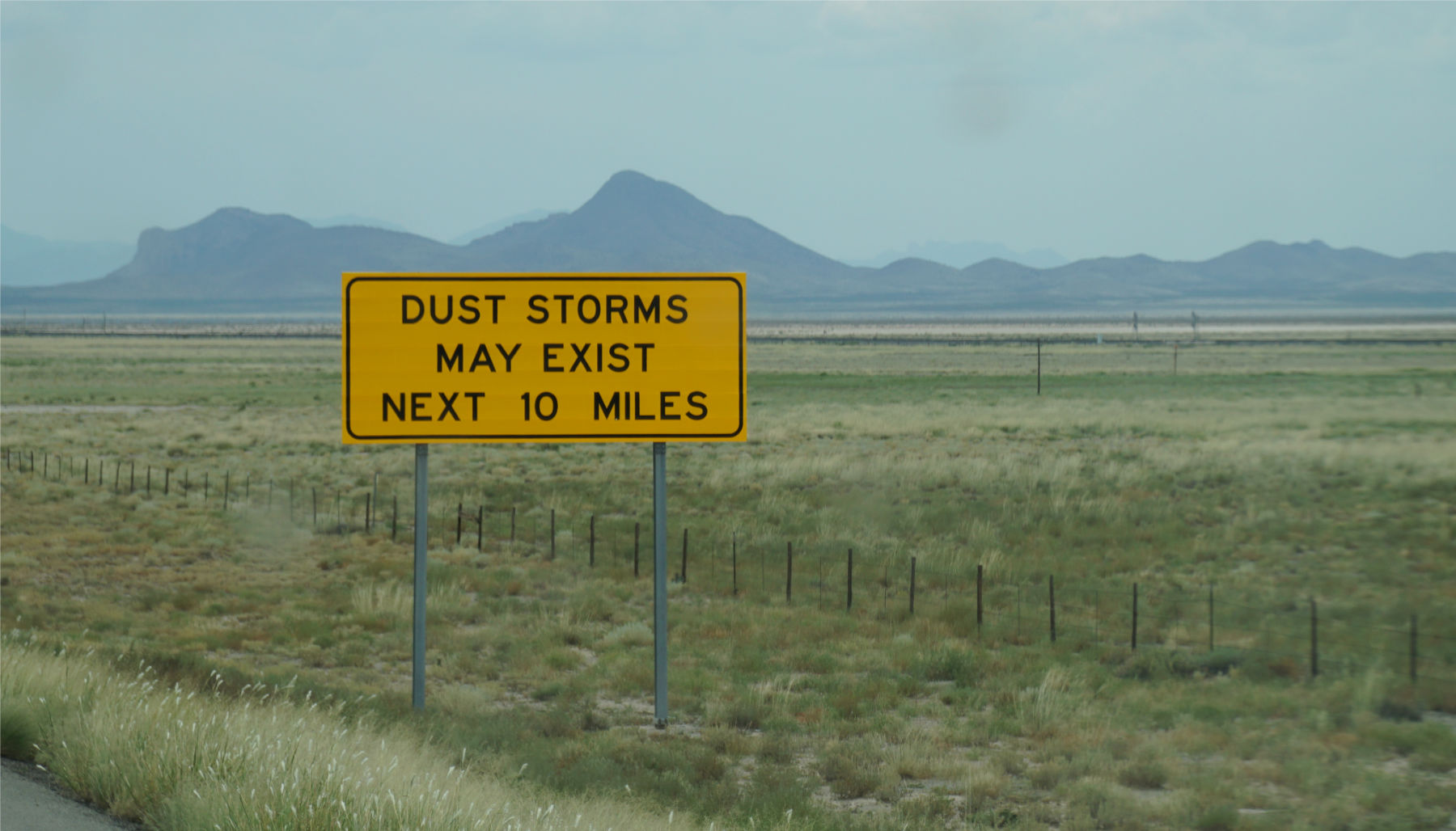 dust storm warning sign